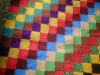 cuvertura tesuta in razboi orizontal cu motive geometrice