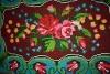 Scoarta de perete (peretar), cusuta in puncte, Decor floral, Cromatica multicolora